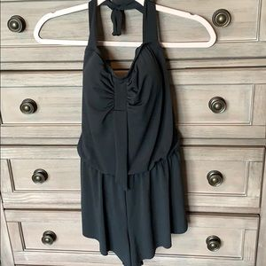 Black Trimshaper bathing suit romper NWT size 10